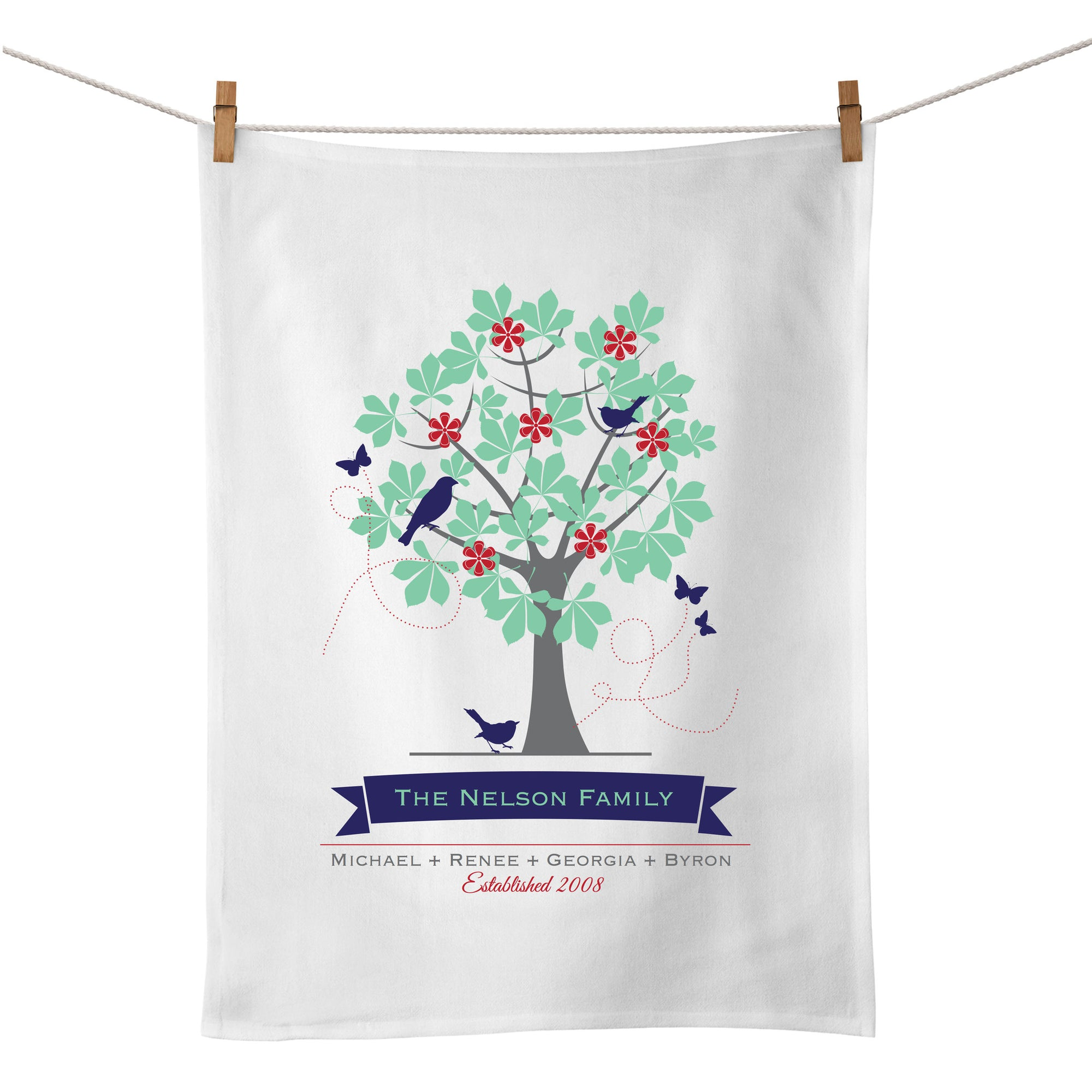 Family Tree Tea Towel