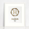 Bamboo (2 colour options) Family Wreath Print