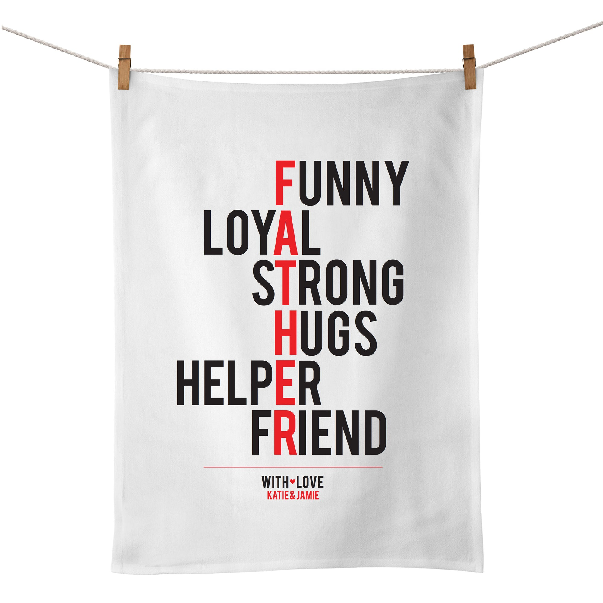 Father (typographic) Tea Towel