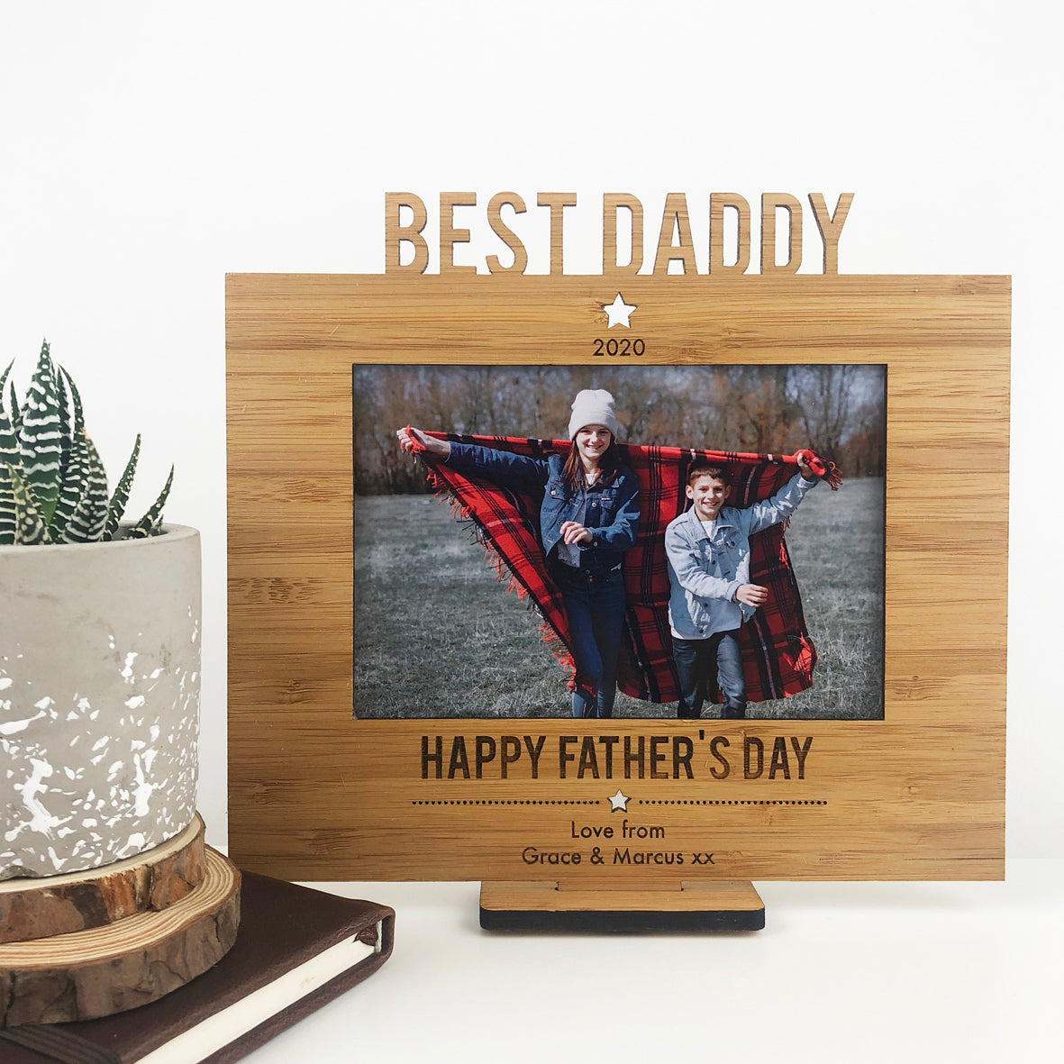 Personalised Father's Day Frame and Stand