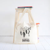 Feather Garland Library Bag