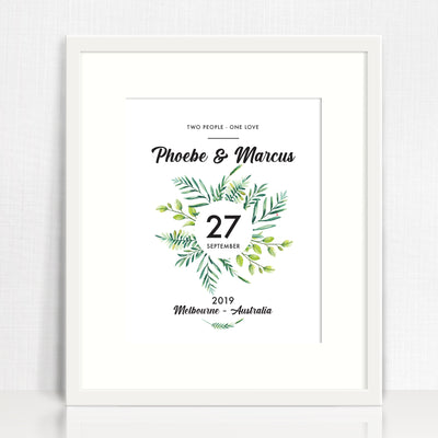 Ferns Wreath Love Print