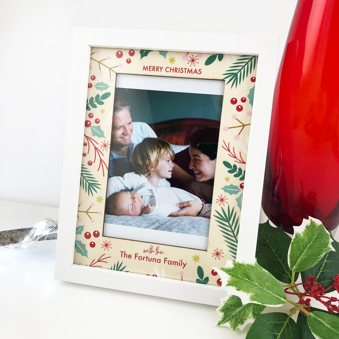 Personalised Festive Photo Frame