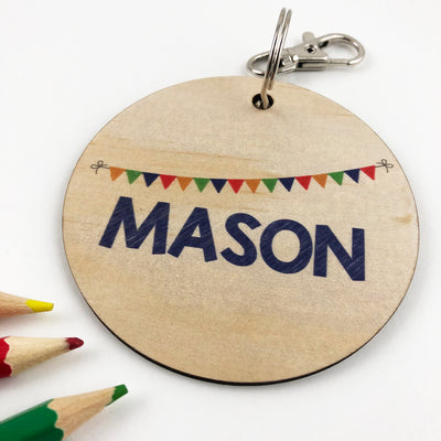 Bunting Personalised Bag Tag - Boys