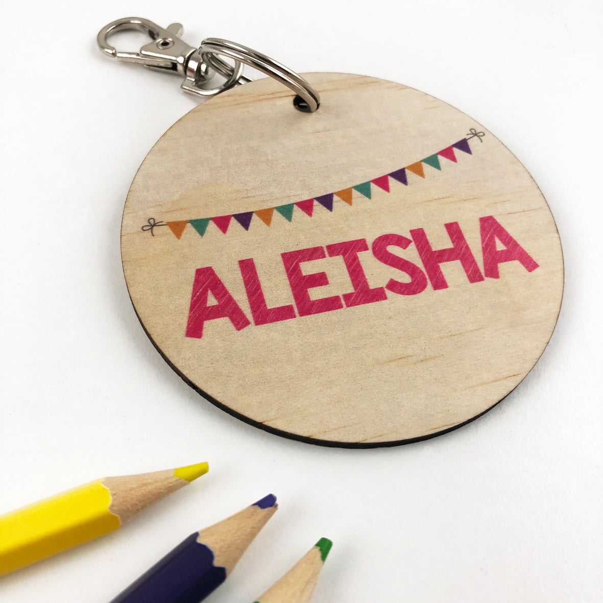 Bunting Personalised Bag Tag - Girls