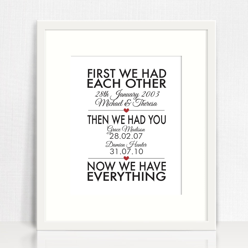 First We Had Each Other Print