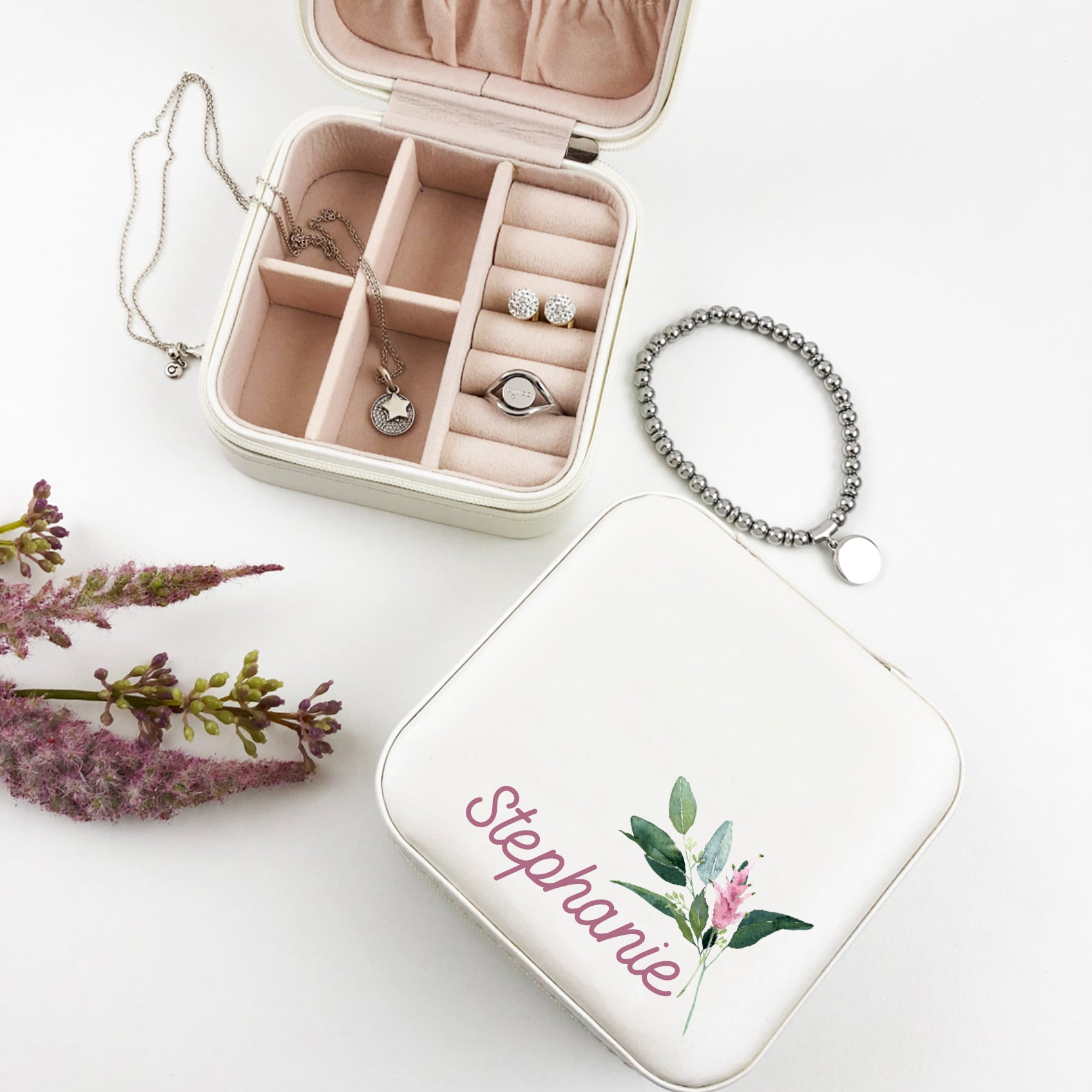 Floral Feature Jewellery Case - (Limited Quantity)