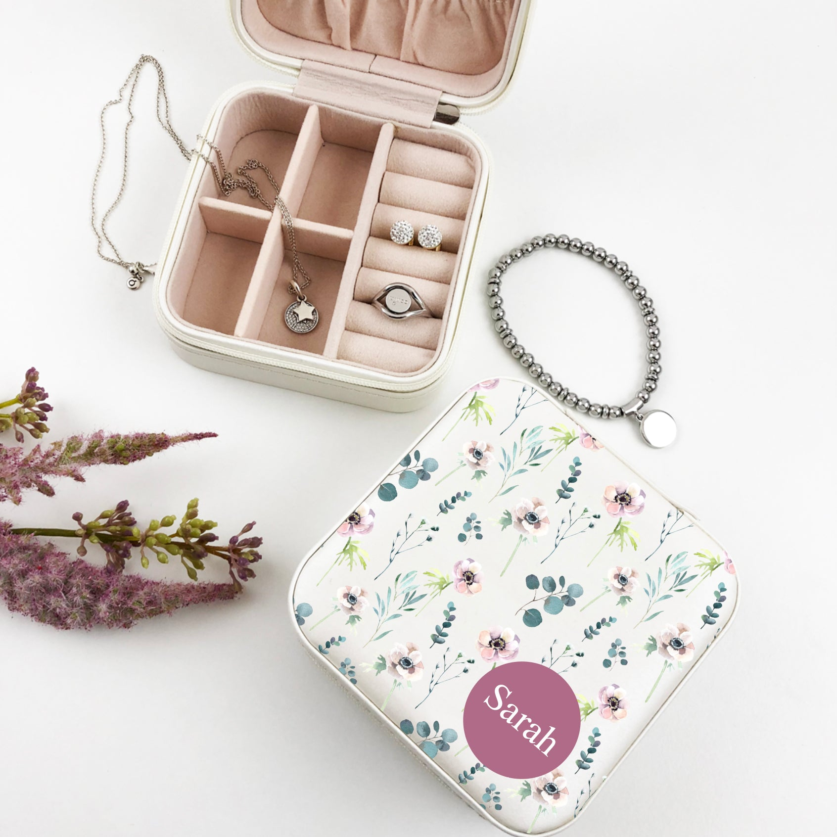 Floral Pattern Jewellery Case - (Limited Quantity)