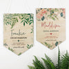 Watercolour Floral Birth Details Wall Hanging