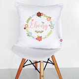 Floral Wreath Cushion Cover