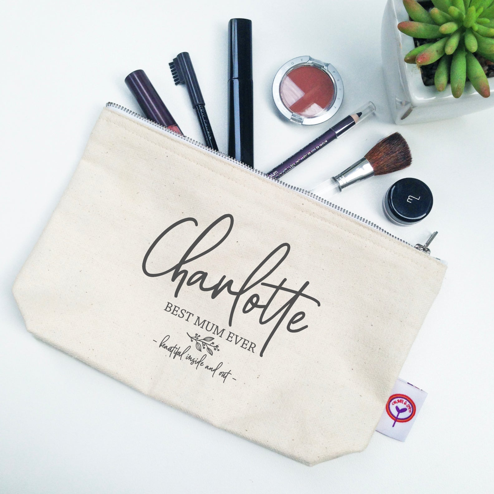 Flourish Name Cosmetic Bag