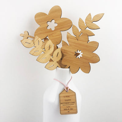 Bamboo Flowers And Personalised Tag