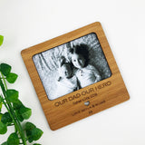Personalised Simple Text Bamboo Magnetic Frame