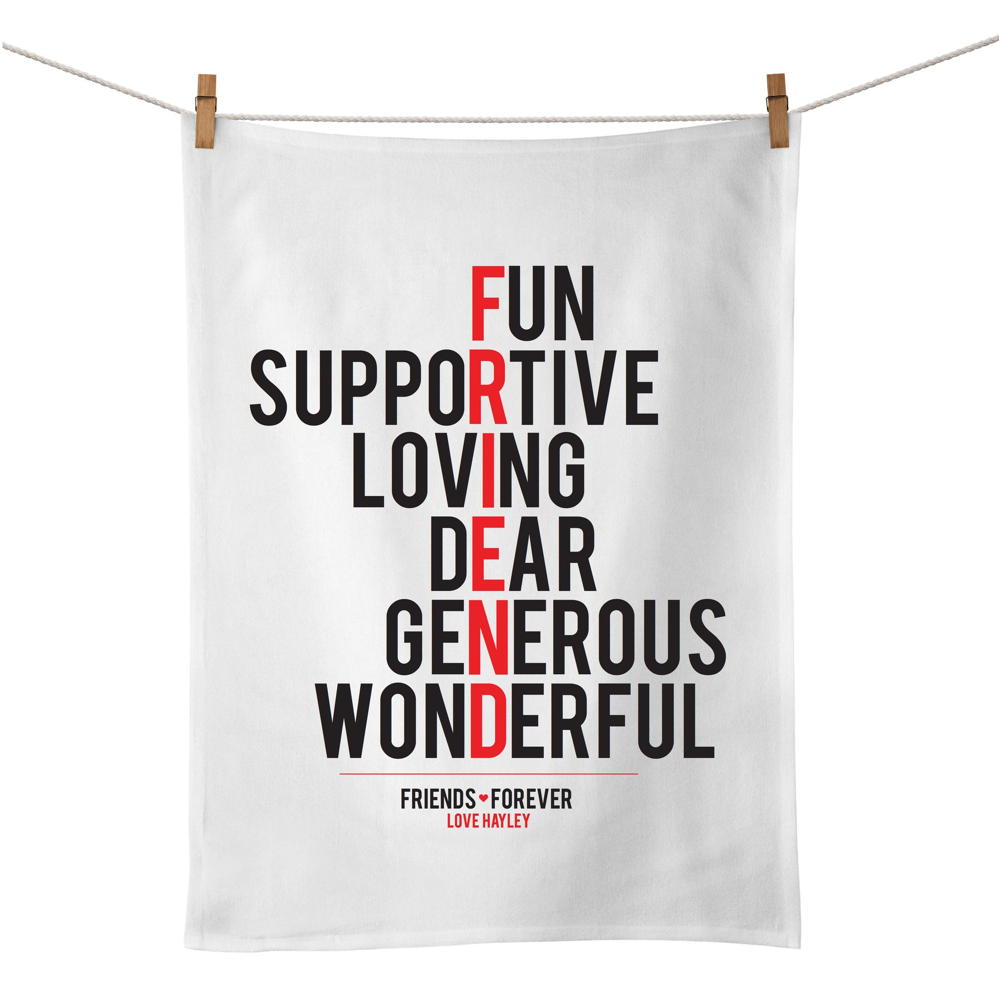 Friend (typographic) Tea Towel