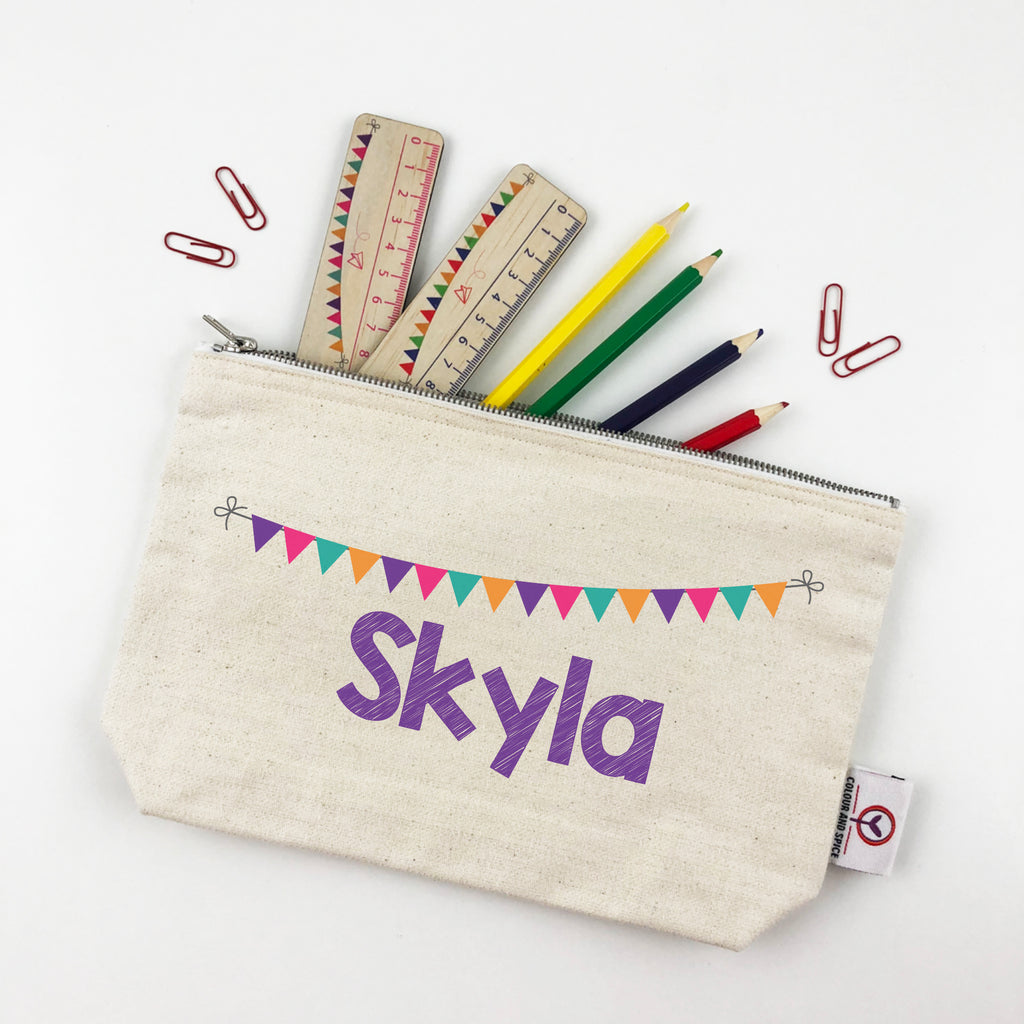 Bunting Pencil Case - Girls