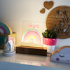 Girls Rainbow Personalised Night Light