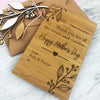 Mother's Day Bamboo Greeting Card & Envelope