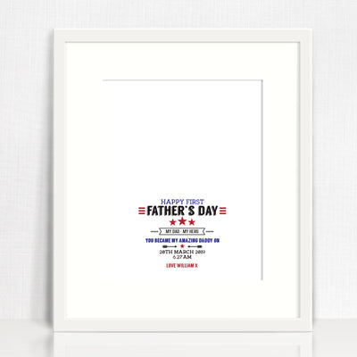 Happy First Father's Day Print (downloadable file option available)