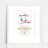 Birdhouse Circle Birth Print