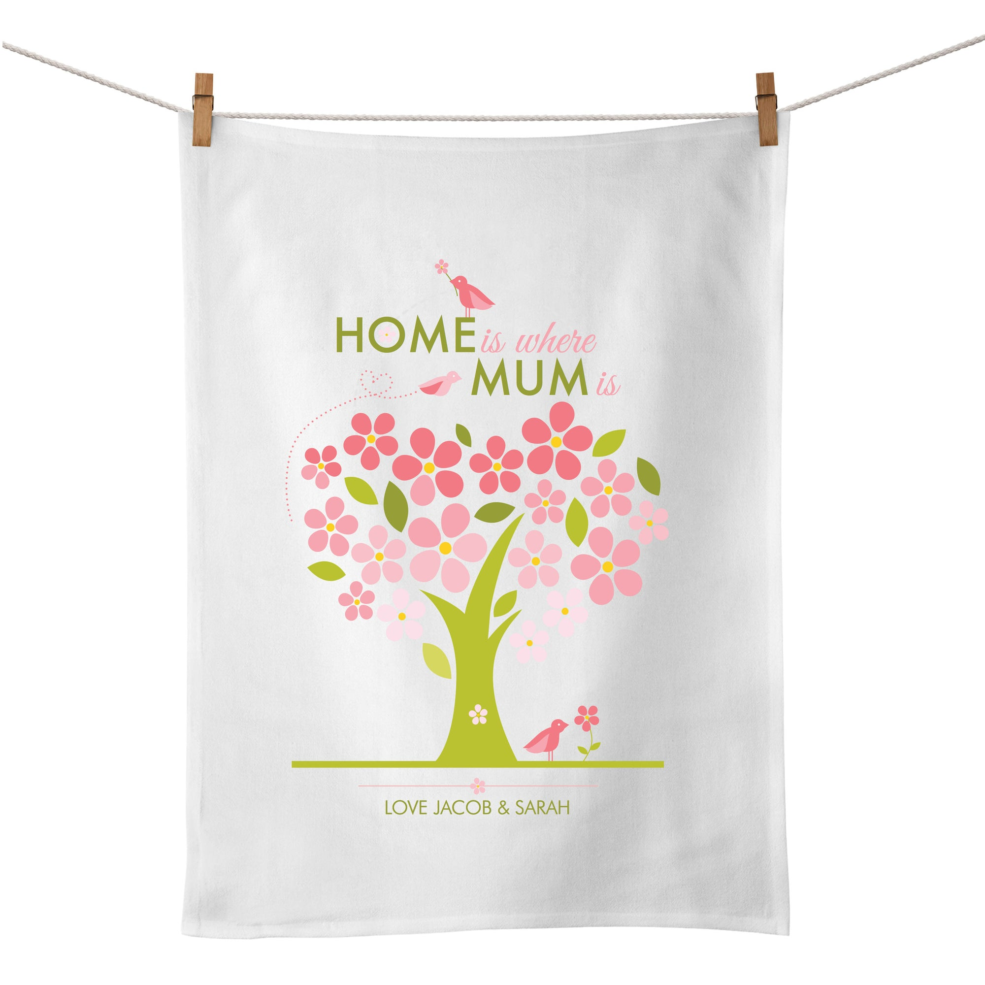 Home Is Where Mum Is (Tree) Tea Towel