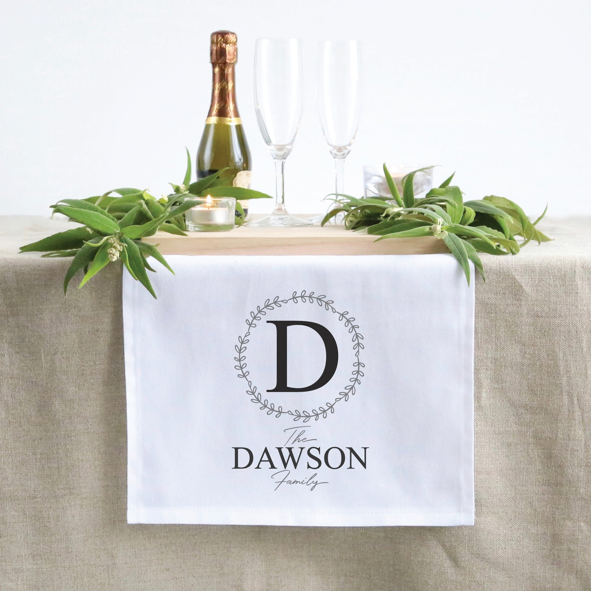 Initial Family Table Runner (3 sizes)