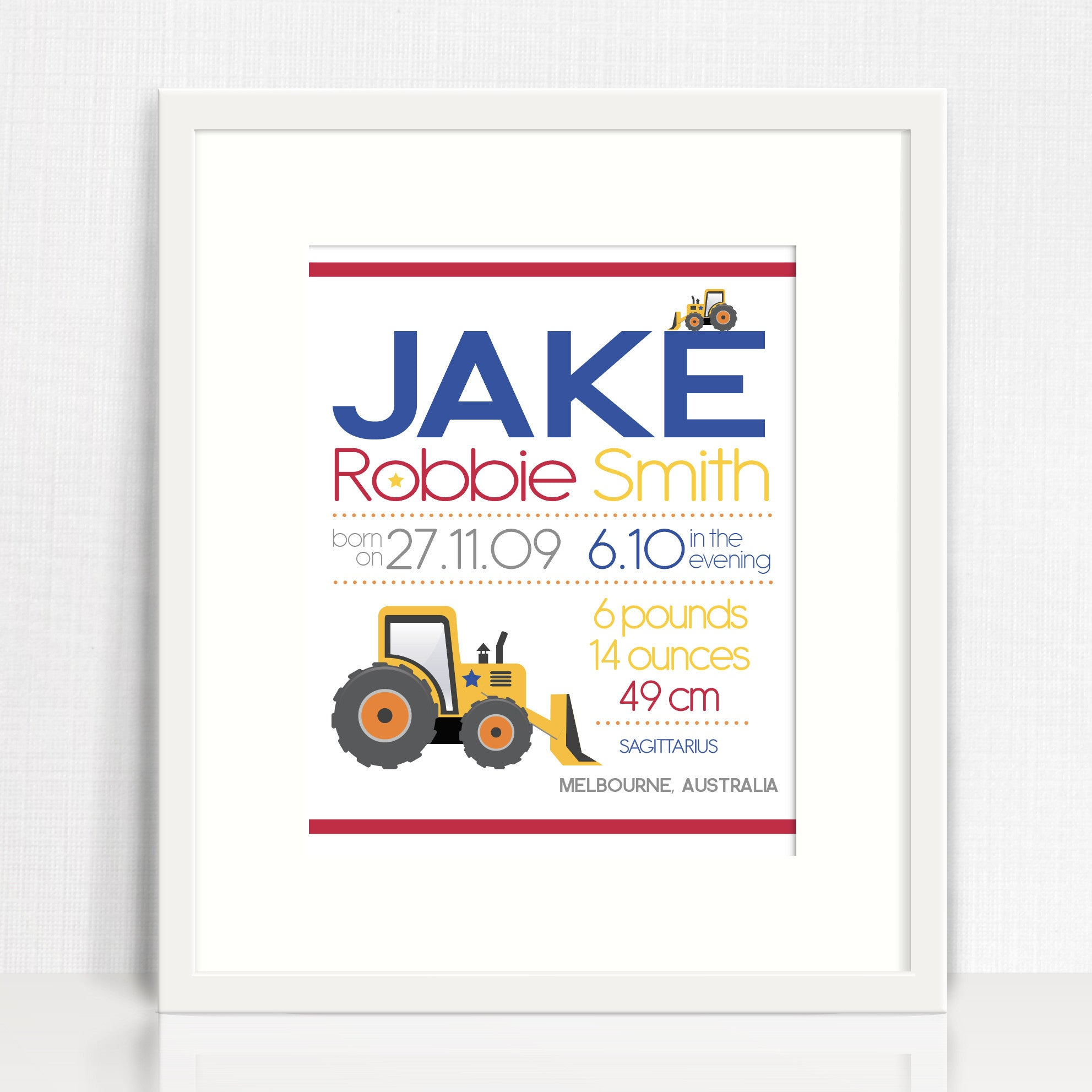 Jake Image Birth Chart Print