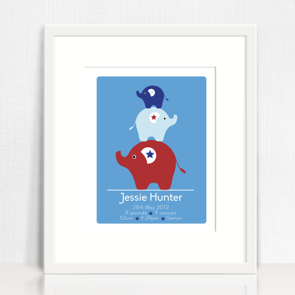 Jessie Elephants Birth Print
