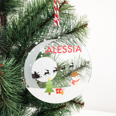 Bright Christmas Name Ornaments