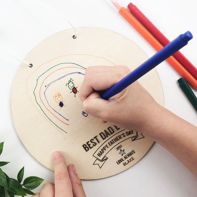 Kids Drawing Personalised Wall Hanging
