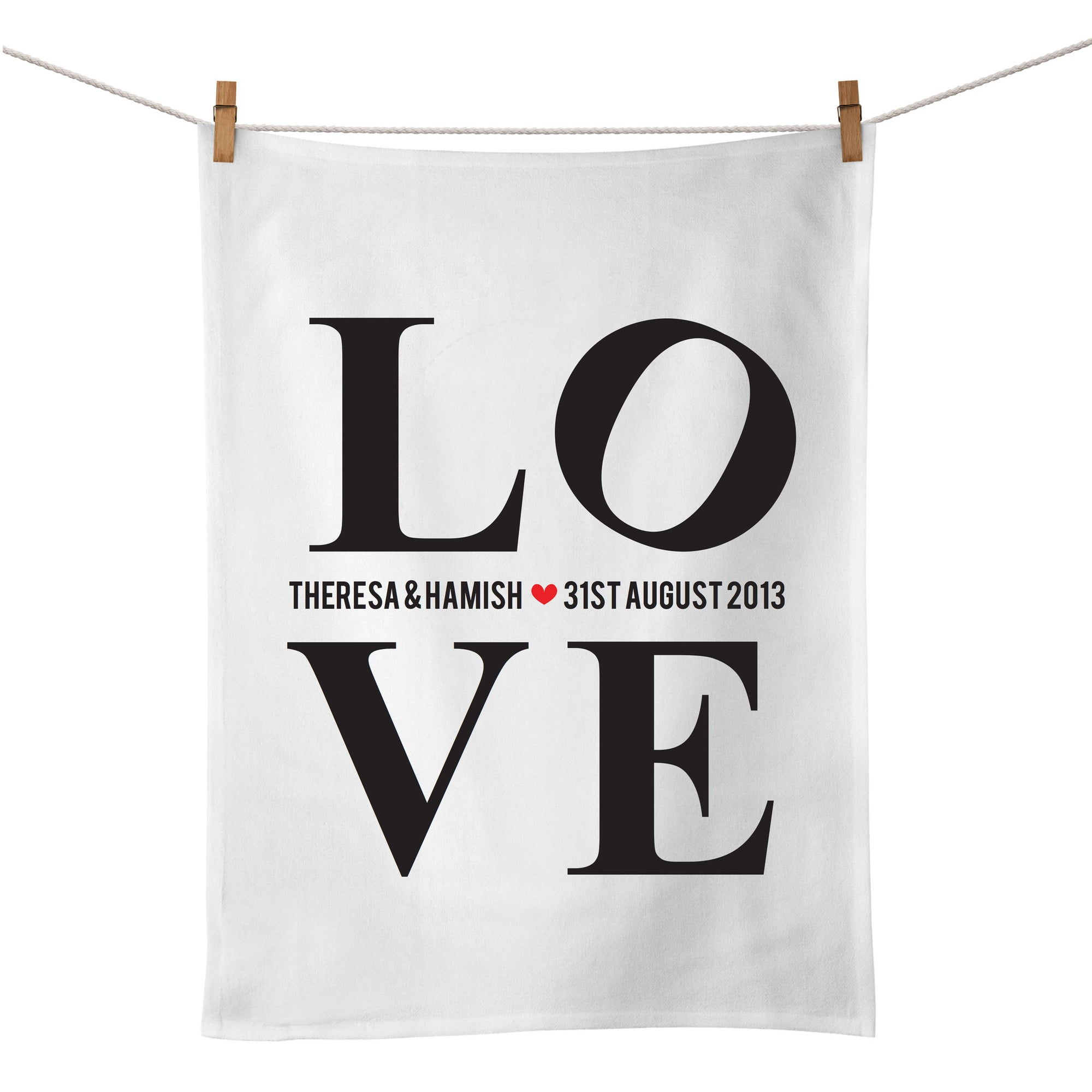 L.O.V.E Tea Towel