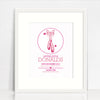 Ballerina Circle Birth Print