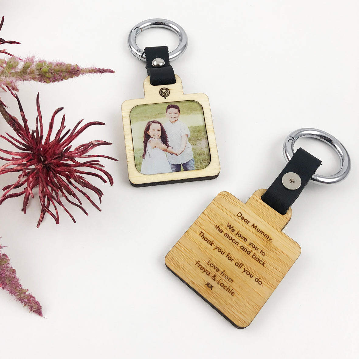 Lavish Double Sided Personalised Photo Keyring
