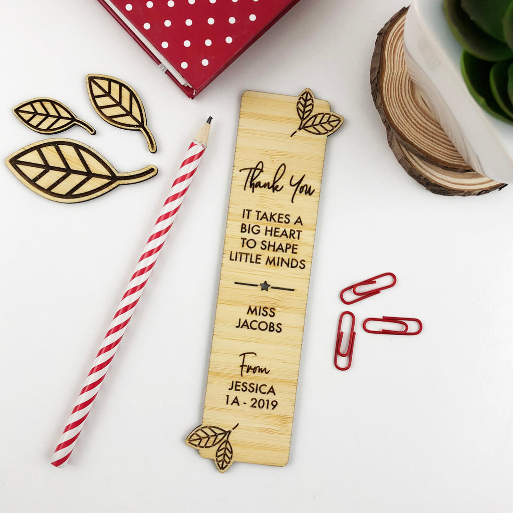 Leaves Teacher Bookmark