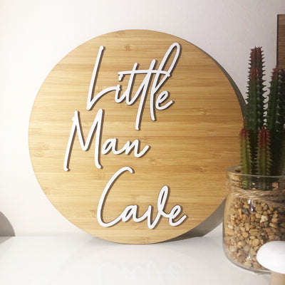 Little Man Cave Wall Plaque