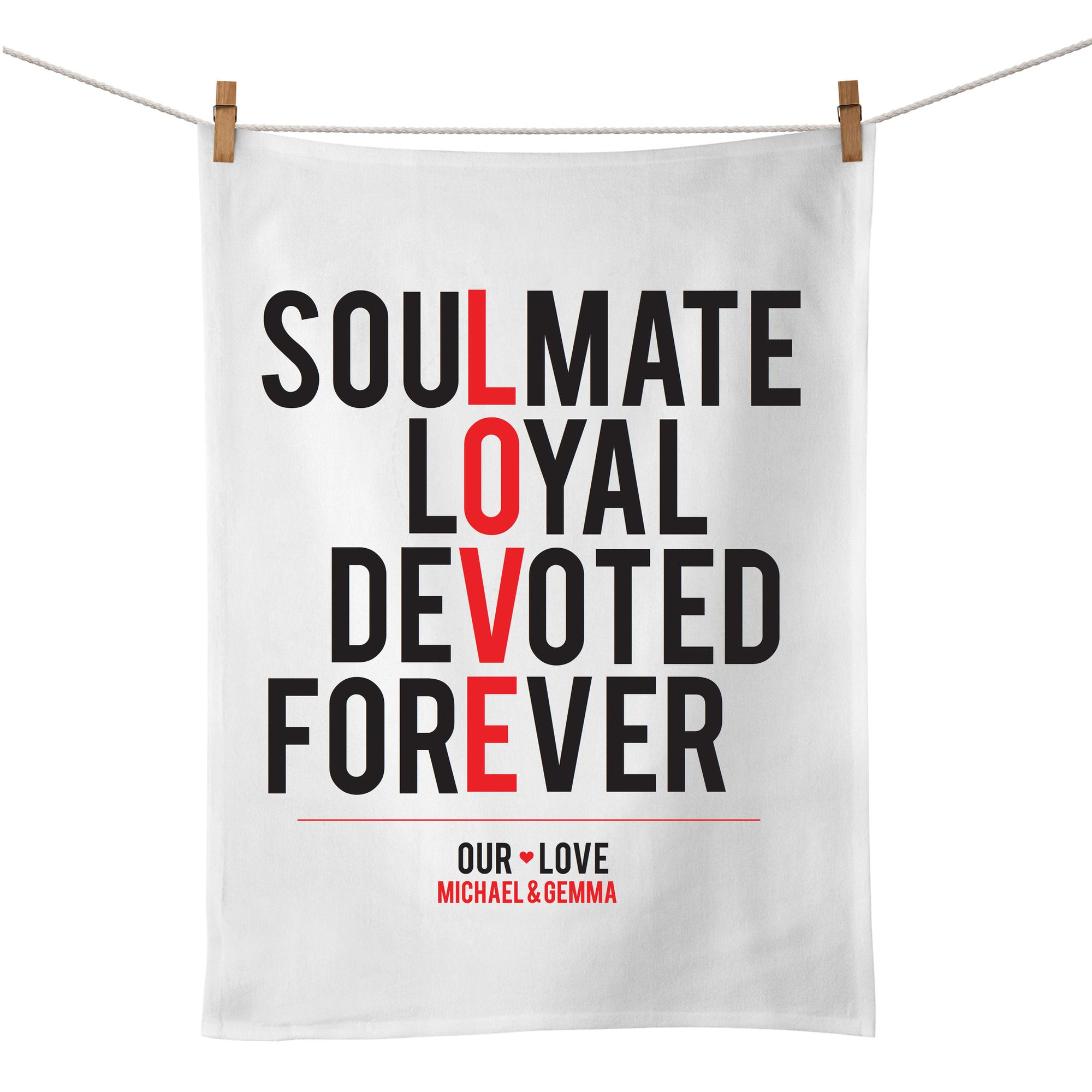Love (Typographic) Tea Towel