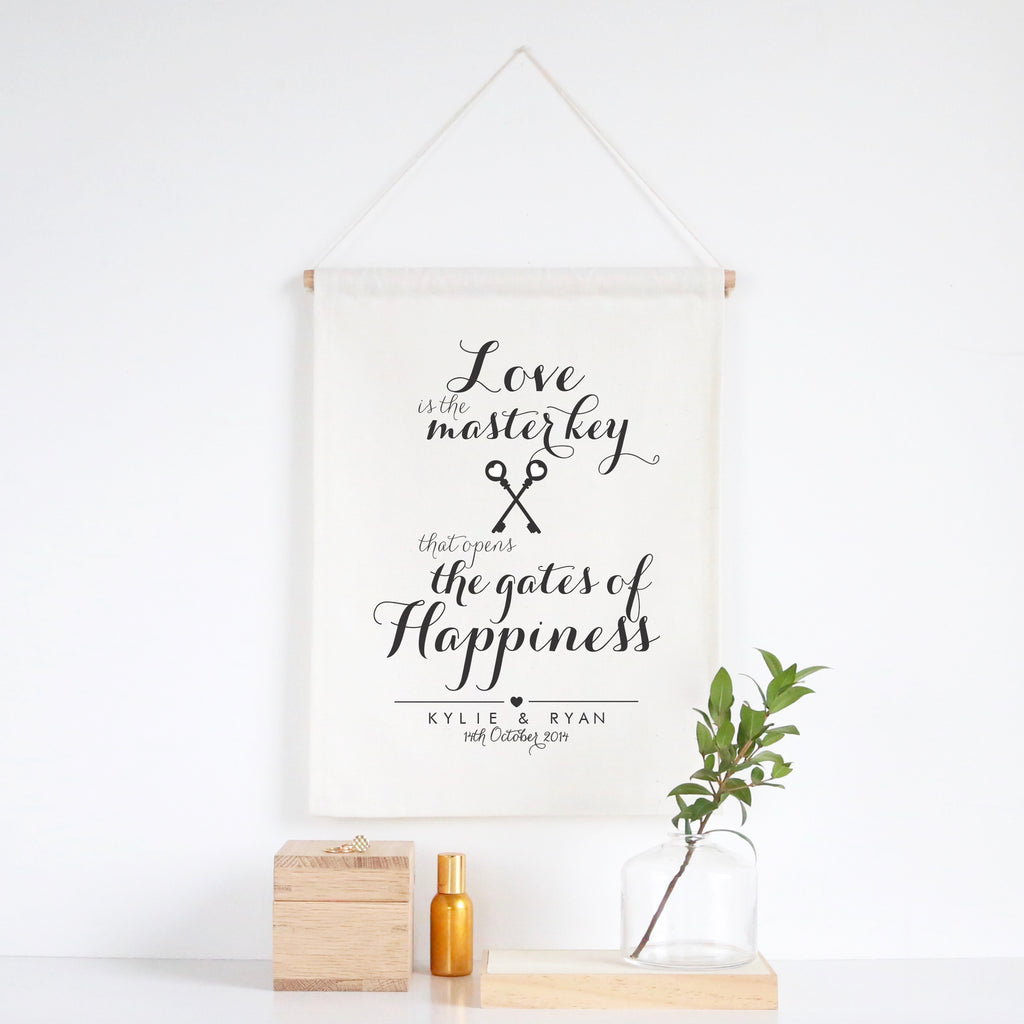 Love Is The Master Key Wall Banner