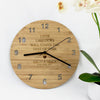 Love Like Ours Bamboo Clock