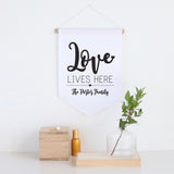 Love Lives Here Pennant Wall Banner