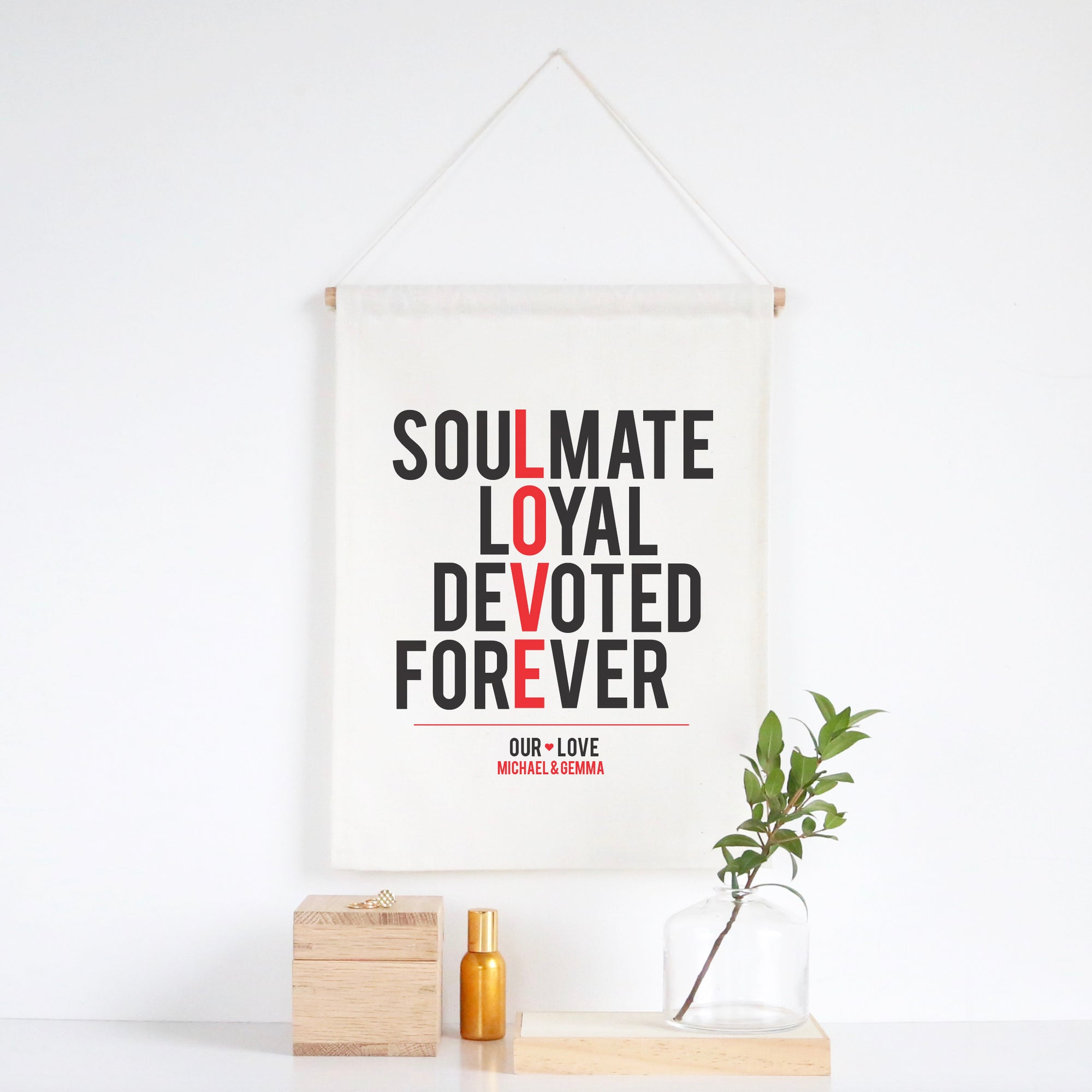 Love Typographic Wall Banner