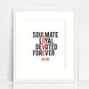 Love Typographic Print