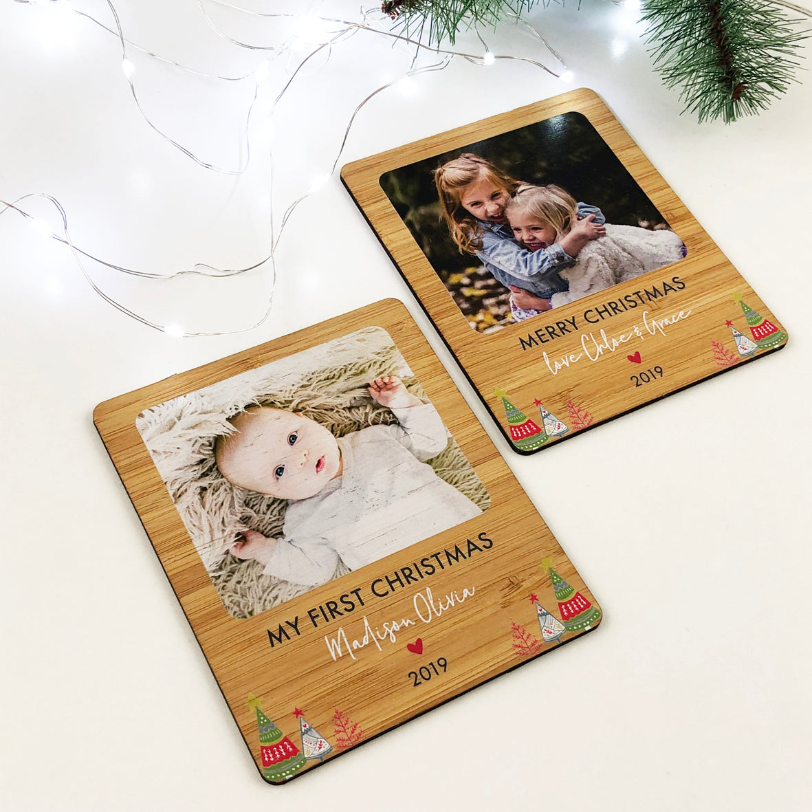Personalised Christmas Photo Magnet
