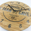 Man Cave Bamboo Wall Clock