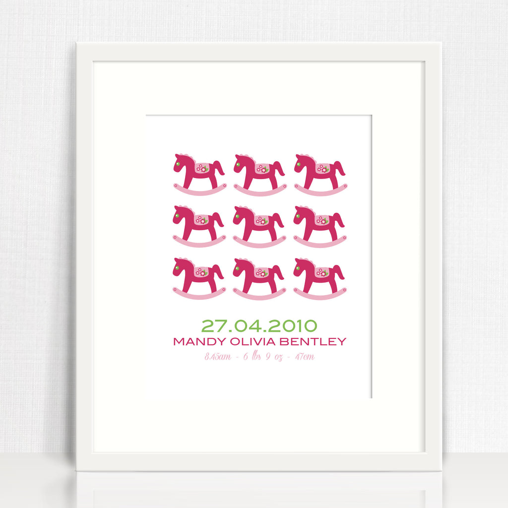 Rocking Horses Repetition Birth Print
