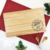 Personalised Merry Christmas Wreath Serving Board