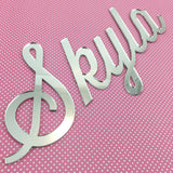 Personalised Acrylic Neat Script Names (various colours)