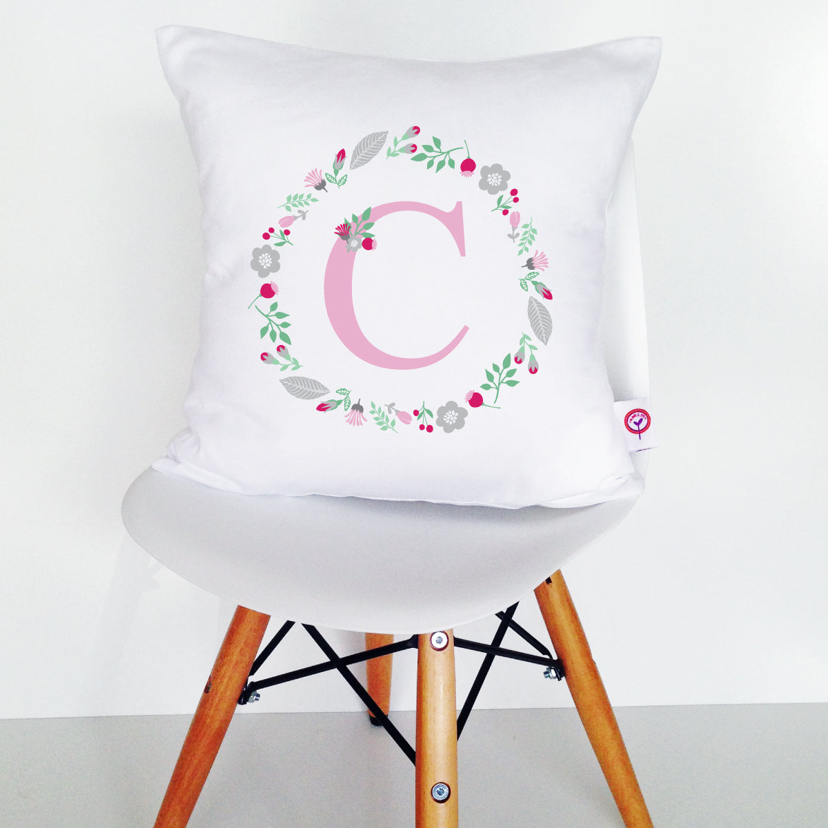Monogram Wreath Cushion Cover