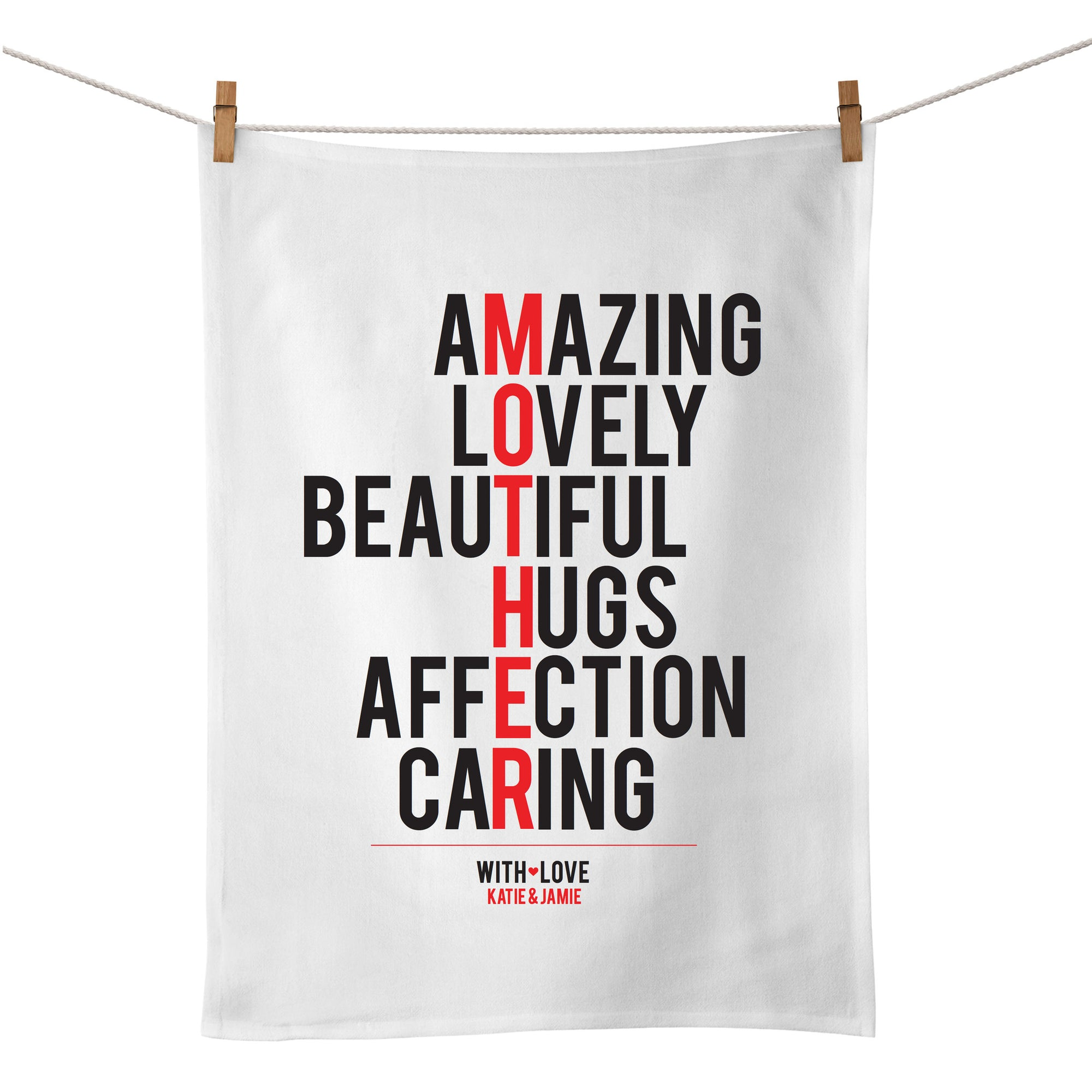 Mother (typographic) Tea Towel