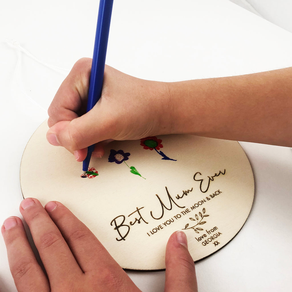 Kids Drawing Personalised Mother's Day Wall Hanging