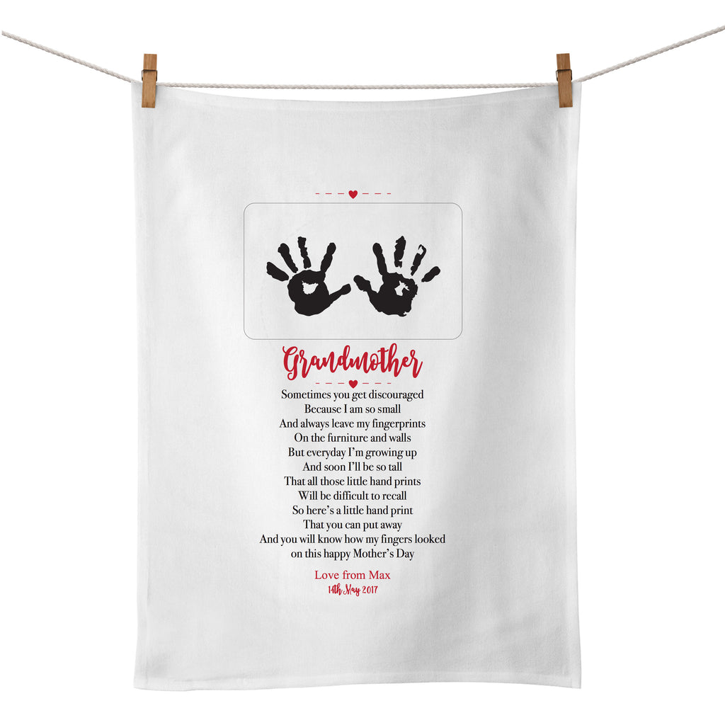 Mother's Day Hand Print Tea Towel