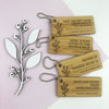 Personalised Rectangle Flourish Bamboo Keyring